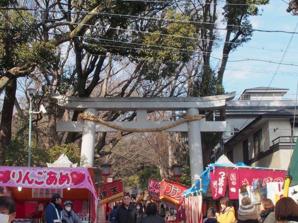 八幡神社境内近く